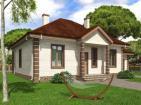 Проект одноэтажного жилого дома с террасой и гаражом